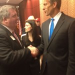 Rob Smith of ASSET greets Senator Thune (R-SD).
