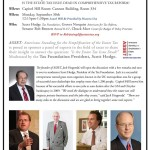 "Estate Tax News:  Panel Briefing ""Is the Estate Tax Dead in Comprehensive Tax Reform?"""